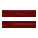 Бордовая волна (напыление) ХZ-31302 Кромка д/МДФ УФ (22х1,3)