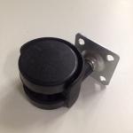 Колесо поворотное D-40 пластик на мет.площадке черное GTV 320шт/уп