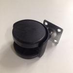 Колесо поворотное D-50 пластик черное на мет.площадке GTV 240шт/уп