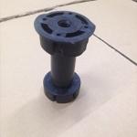 Нога кухонная 100мм, регулируемая/пластик черный без клипсы РП